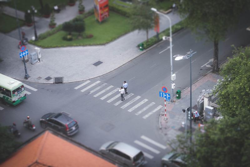 пешеходец при инцидент на пътя